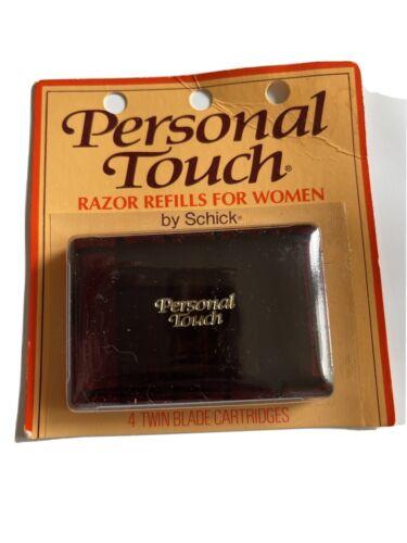 New Schick Personal Touch 4 Pack Twin Blade Cartridges Razor Refills Women