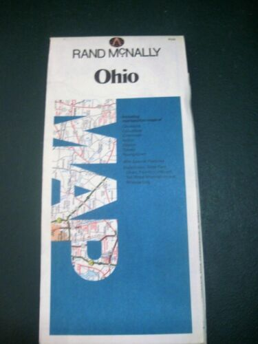 VINTAGE ROAD  MAP RAND MCNALLY  MAP OF OHIO