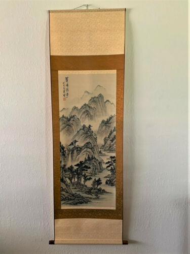 """Vintage Japanese Decorative Scroll Signed By Artist - 70"""" x 21.5"""""""