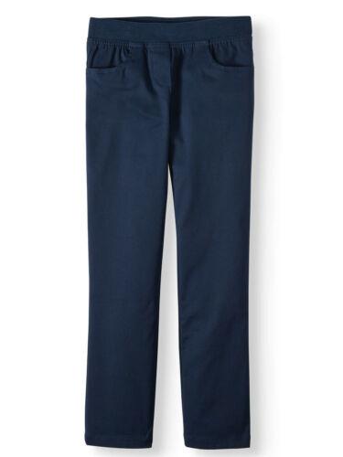 Wonder Nation Girls School Uniform Stretch Twill Pull-On Pants Sizes 4-16 (NEW)