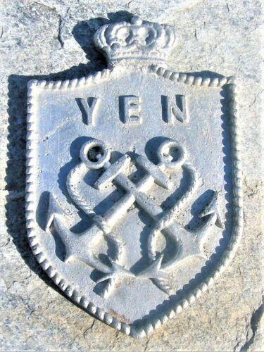 SUPERB VINTAGE ROYAL GREEK MINISTRY OF MERCANTILE MARINE ALUMINUM PLAQUE 1950's