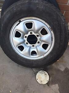 4x HILUX sr steel rims and tyres 20% tread Campsie Canterbury Area Preview