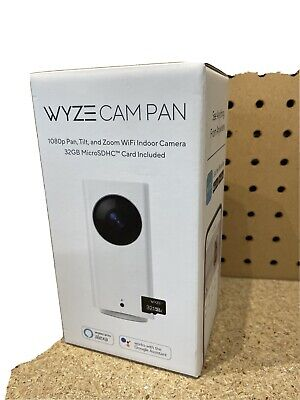 Wyze WYZECP1 Indoor Pan Cam Home Camera Night Vision 2-Way Audio 32gb SDHC Card