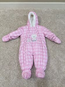 Like New Pink Plaid One Piece Snowsuit, Size 9 Months  Edmonton Edmonton Area image 1