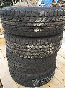 """14"""" snow tires and rims"""
