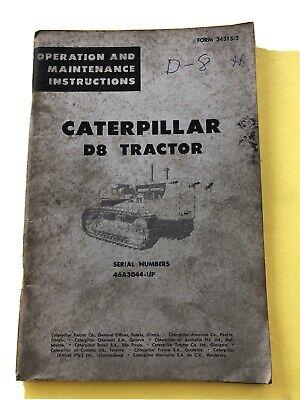 Vintage Caterpillar D8 Tractor Bulldozer Maintenance Operation Book Catalog