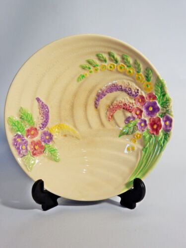 Superb Antique Art Deco Wade Harvest Ware Flower Bowl Dish Plate England Pottery