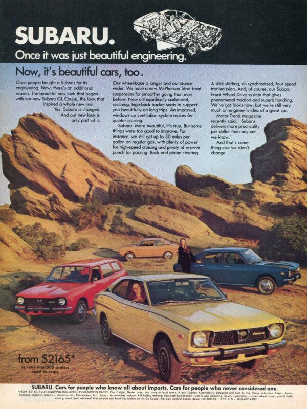 Shift 1986 Subaru Sedans Classic Vintage Advertisement Ad D91