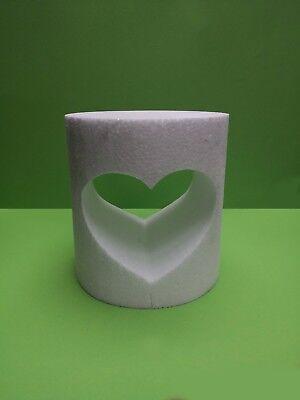 Herz Zylinder 18 x 21 cm Hochzeit Geschenkidee Mosaik Rahmen kreativ 3D Styropor](Idee X Halloween)