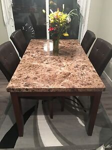 Dining table set. Like new! Comes with 6 seats