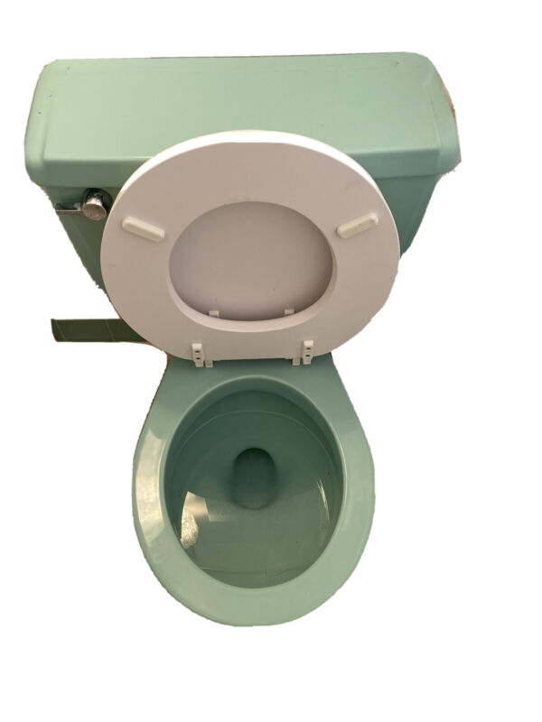 Vintage Mid Century Jadeite Ming Green Toilet American Standard