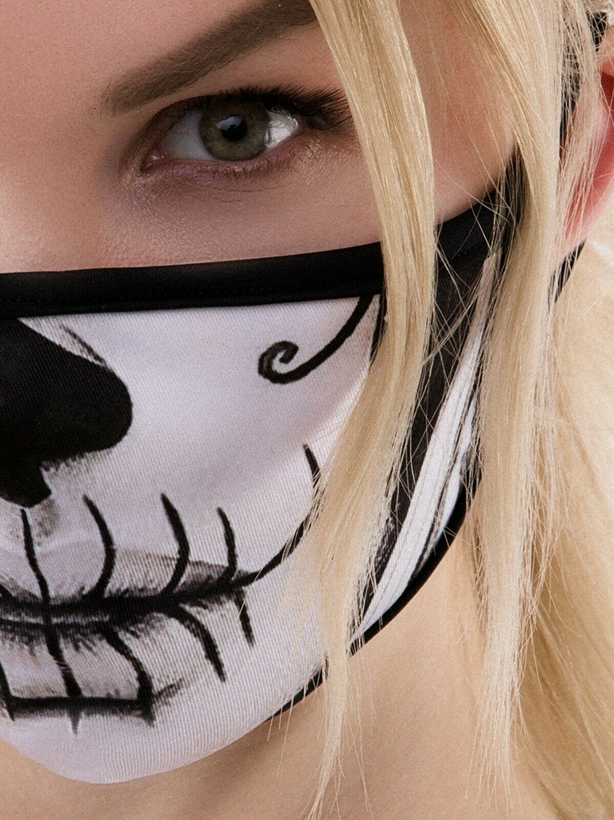 Maske TOTENKOPF MEXICO SKELETT Gesicht Mexikanisch KOPF HALLOWEEN  Frau