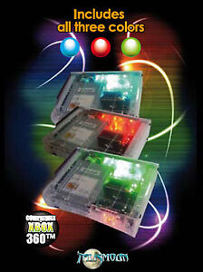 XBOX 360 TWILIGHT FLOW BLUE RED or GREEN LED LIGHT WIND TUNNEL UK