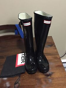 Replica black glossy hunter boots