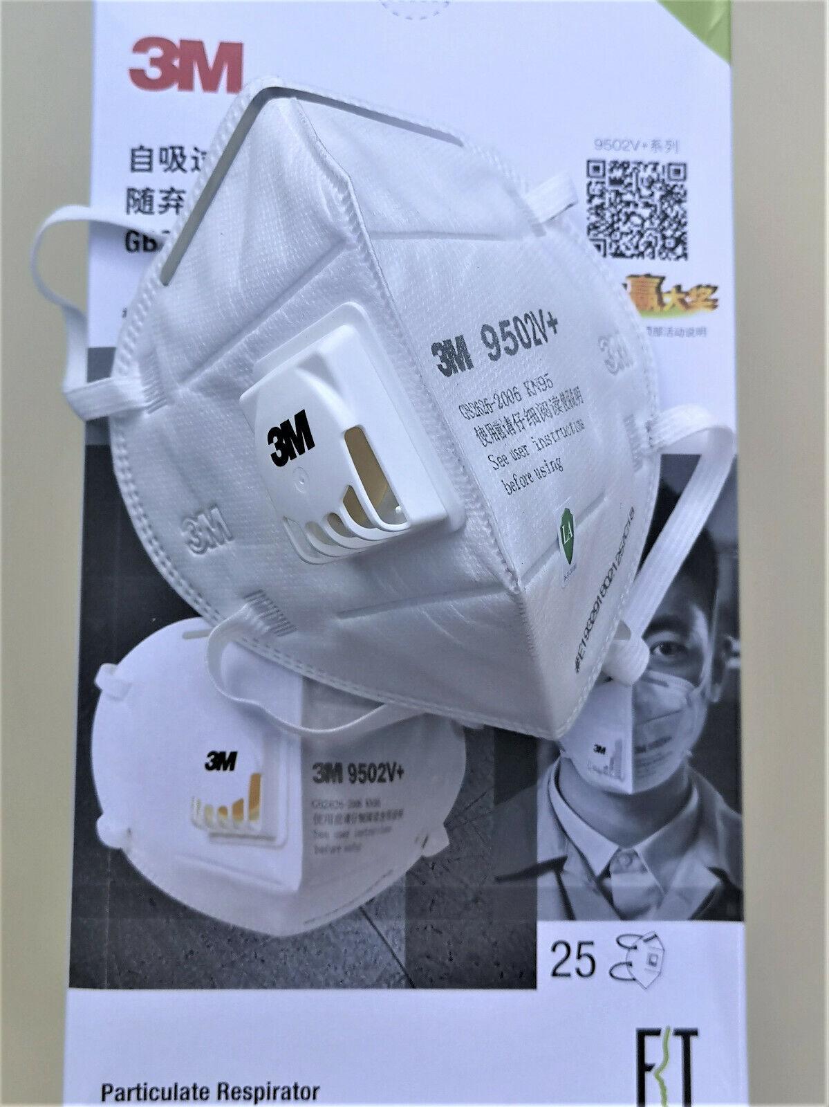 3M™ FFP2 9502V+ KN95 Profi Atemschutzmaske m. Ventil Filter Kopfband Markenware