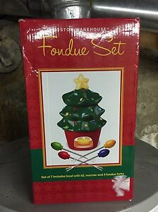 Christmas fondue set