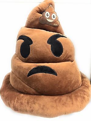 Emoji Smiley Face Emoticon Stuffed Pillow Cushion Hat Plush Poop  adult  - Smiley Face Cushion