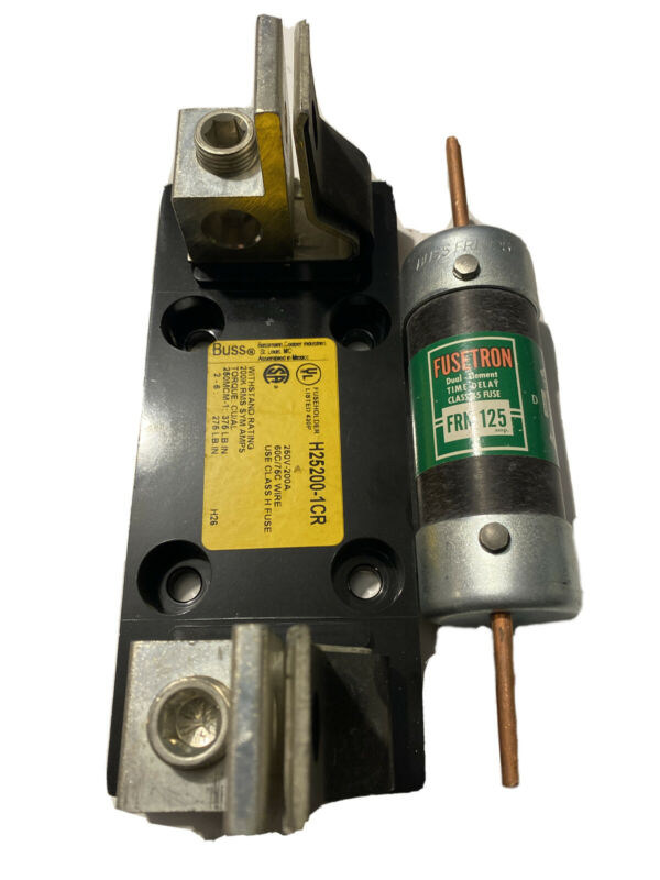 🔥BUSS R25200-1CR FUSEHOLDER *USED* With Fuse!!!