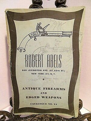 Antique Firearms Edged Weapons Catalog Robert Abels Flintlock Guns Swords Canes