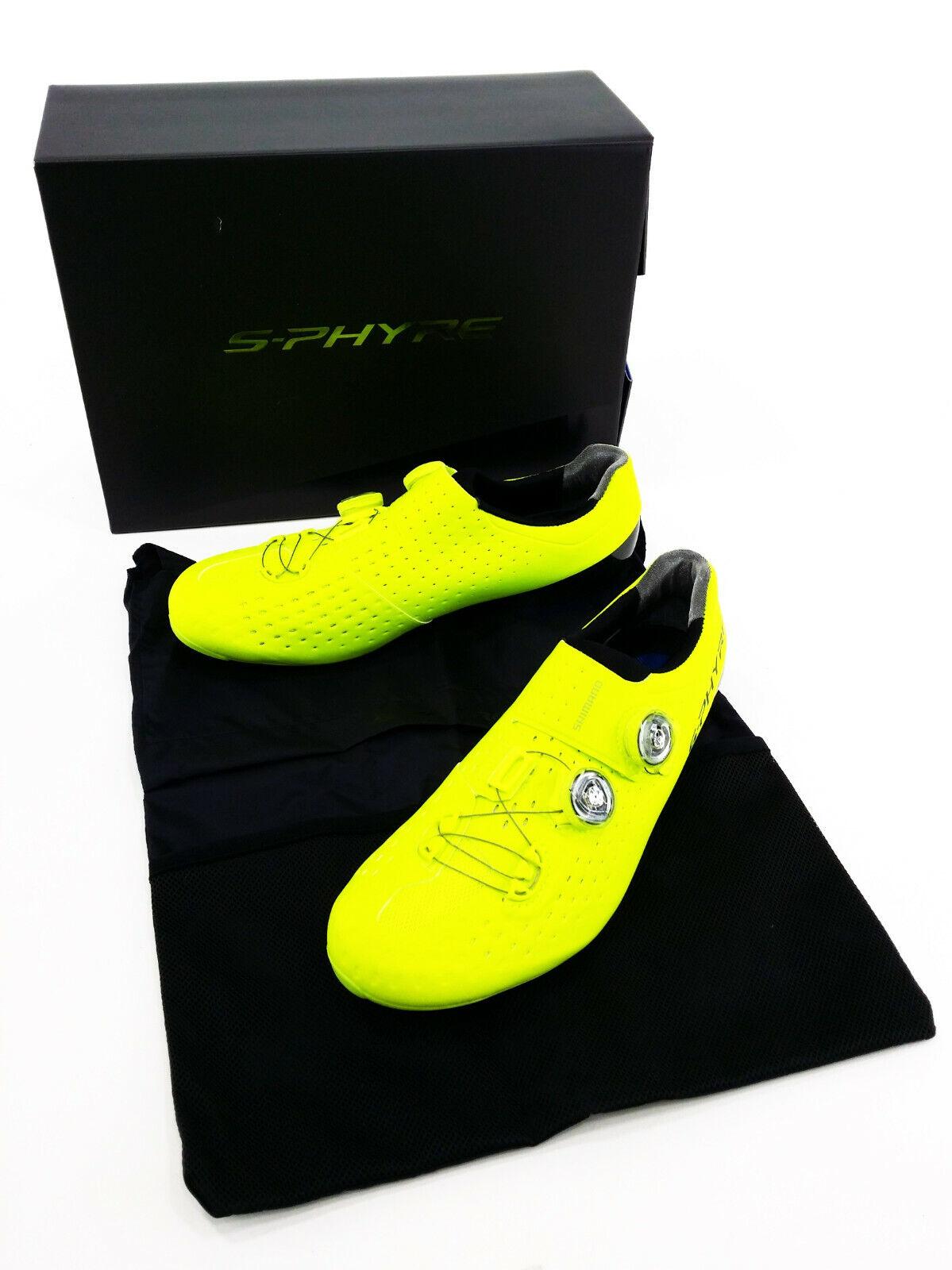 Shimano RC9Y S-Phyre Road Bike Shoes, Yellow, US 8.9 / EU 43