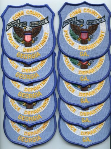 COBB COUNTY GEORGIA Trade Stock 10 Police Patches 2 STYLES POLICE PATCH