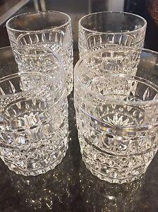 Gorgeous Crystal 11 oz Tumblers- Set of Four