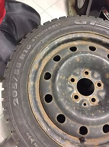 Winter Tires on steel rims Kingston Kingston Area image 3
