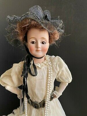 "Antique 19.5"" original smiling Kestner GIBSON GIRL w/ original body mold 172"