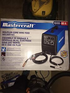 Mig and flux welder kit with warranty (brand new never used)
