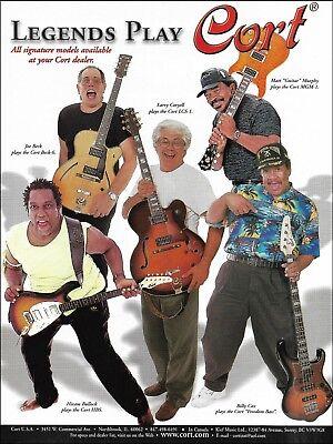 Artist Signature Guitars - Cort Signature Artist Guitars Ad Matt Guitar Murphy Hiram Bullock Larry Coryell