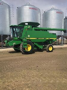 1997 John Deere CTS and headers