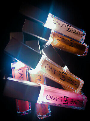 PURE LANO NATURAL HYDRATING LIP GLOSS WITH MIRROR AND LIGHT 5 COLORS