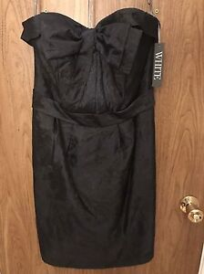 WHITE by Vera Wang navy cocktail dress