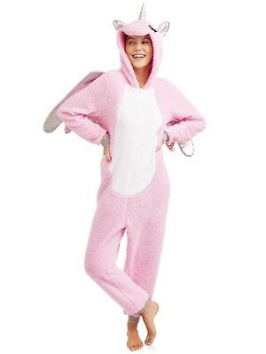 One Piece Pajama Halloween Costumes (NEW Women's One Piece Pajamas Unicorn Hood Union Suit Halloween Costume S M L)
