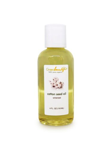 COTTON SEED OIL ORGANIC CARRIER COLD PRESSED WINTERIZED NATURAL PURE 4 OZ