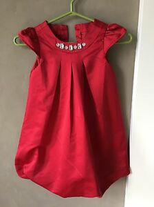 Gymboree red dress with jewels