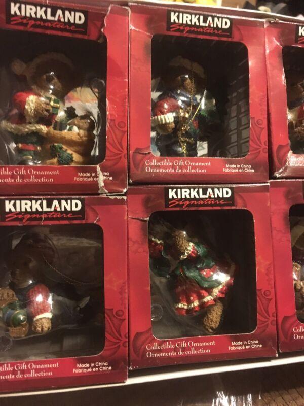 Kirkland Christmas Bear Ornaments Set Of 8