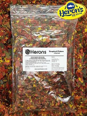 HERONS Tropical Flakes [100g] TROPICAL FLAKE FISH FOOD Cichlid Goldfish Tetra