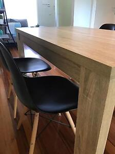 6x seater dining table and 4xEames replica chairs Port Melbourne Port Phillip Preview