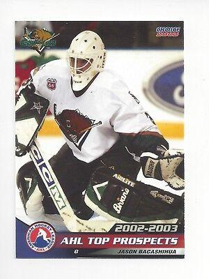 Usado, 2002-03 AHL Top Prospects #4 Jason Bacashihua (Deggendorfer SC) segunda mano  Embacar hacia Argentina