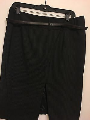 Black White Pencil Pinstripe - Express Black White Pinstripe Pencil Skirt Size 10 Women's Work Career