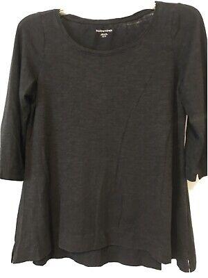 Eileen Fisher XS Black Organic Cotton And Hemp