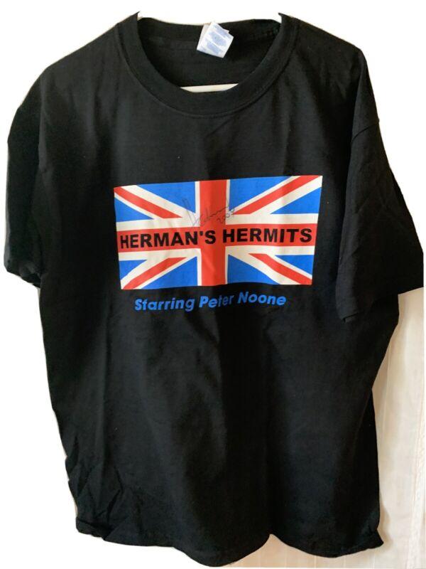 Hermans Hermits Autographrd Tee Shirt Large