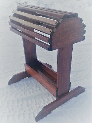 NEW Handmade Mahogany Saddle Stand Rack W/tray  with Finish