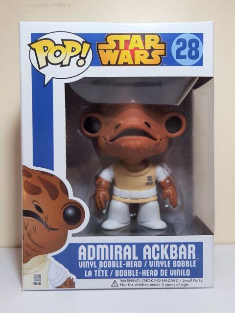 Funko Pop Admiral Ackbar # 28 Star War Vaulted Vinyl Figure