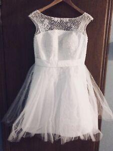 Brand new knee length wedding bride/bridesmaid dress