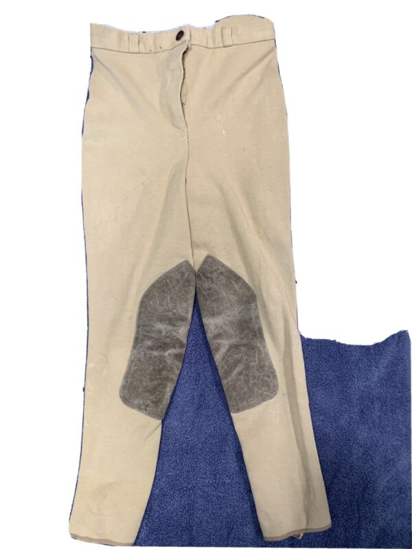 2 Pair Youth Breeches Tan And Blue