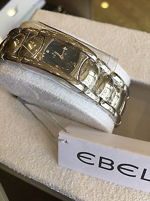 Ebel Beluga Manchette Ladies Diamond Blue Dial Swiss Quartz Watch 9057A21/47650