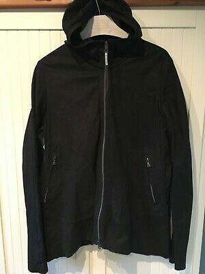 Isaac Sellam Experience Double Faced Lamb Skin Leather Hooded Jacket