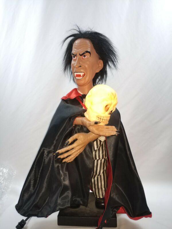 Vintage 1986 1987 Telco Motionette Lighted Halloween Dracula Figure